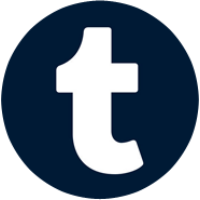 Tumblr button round